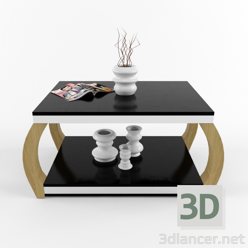 3d model coffee table with in the style of loft id 15001 for Table 3d model