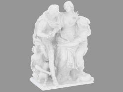 Scultura in marmo Arria e Paetus
