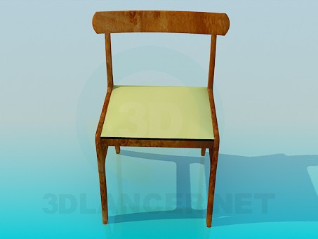 3d model Wooden chair - preview