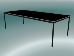 Rectangular table Base 250x110 cm (Black, Plywood, Black)