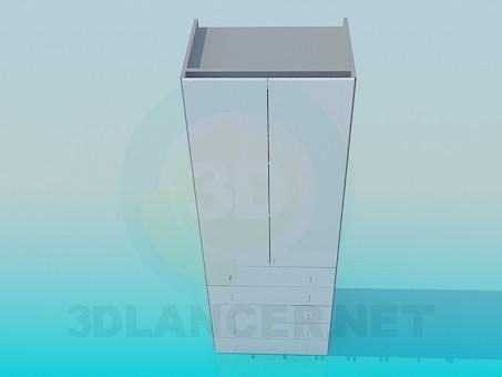 3d модель Шафа з висувними ящиками внизу – превью