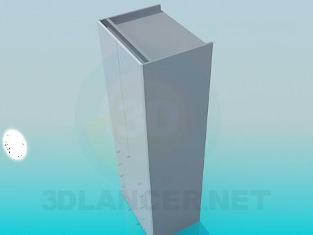 modelo 3D Cajonera con cajones en la parte inferior - escuchar