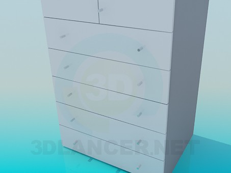 3d model Cabinet with drawers at the bottom - preview
