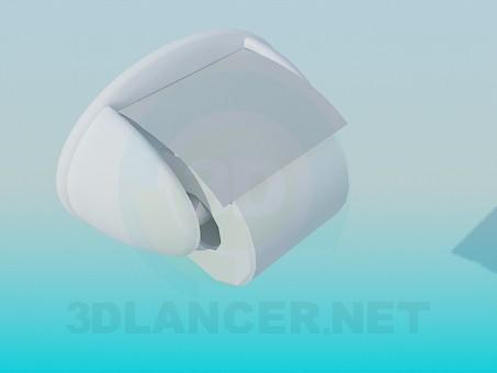 3d модель Тримач для рулону туалетного паперу – превью