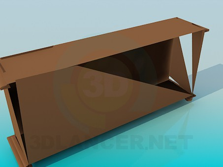 3d model The long drawer pedestal - preview