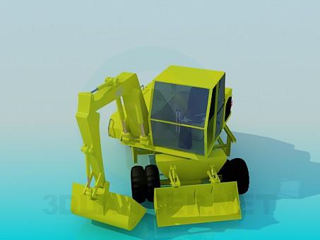3d модель Екскаватор – превью