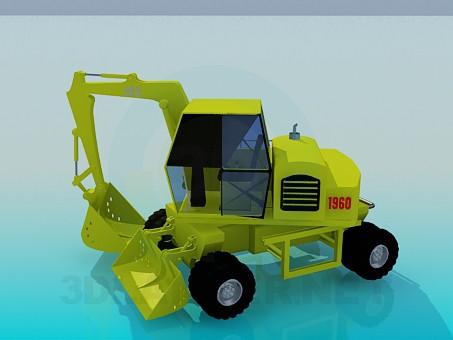modelo 3D Excavador - escuchar