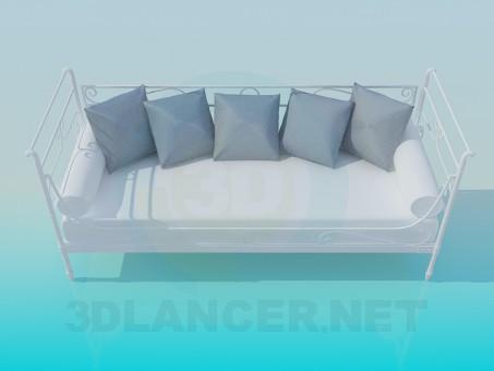 modelo 3D Sofá cama - escuchar