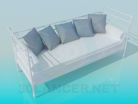 3d model sofa bed download for free for Sofa bed 3d model