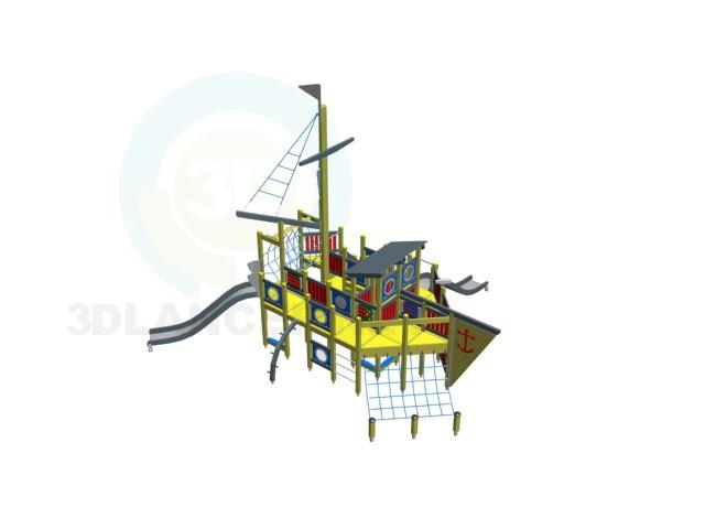 modèle 3D aire de jeux - preview