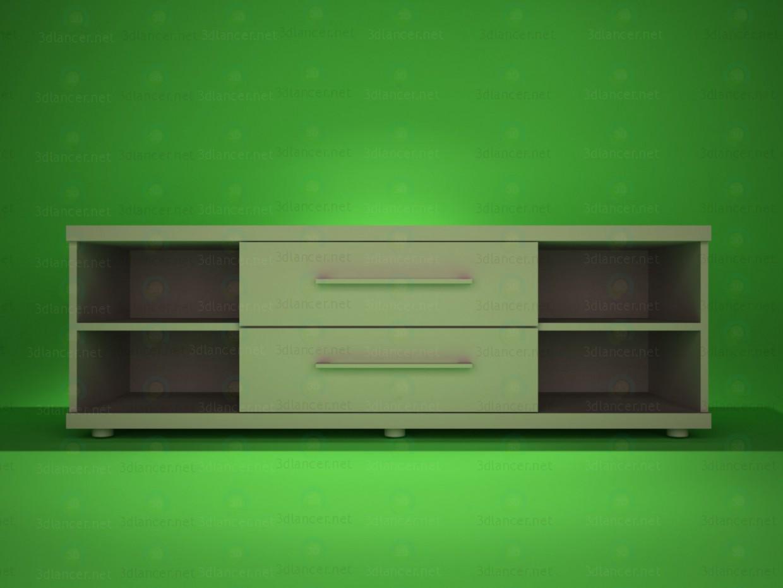 3d модель Тумба під TV – превью