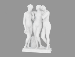 Marble sculpture The Three Graces (1)