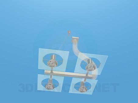 3D modeli Halojen Lambalar ile avize - önizleme