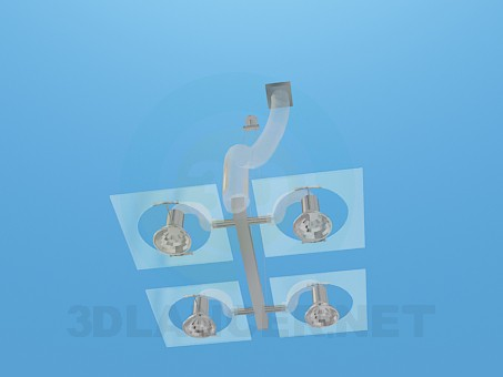 modelo 3D Lámpara con bombillas halógenas - escuchar