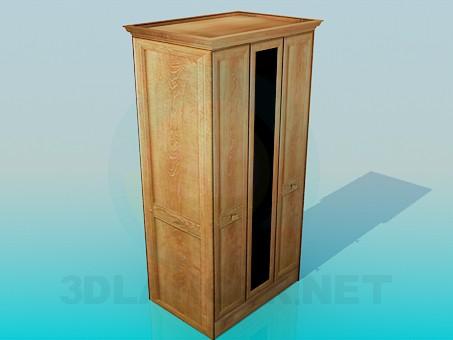 3d модель Узкий гардероб – превью