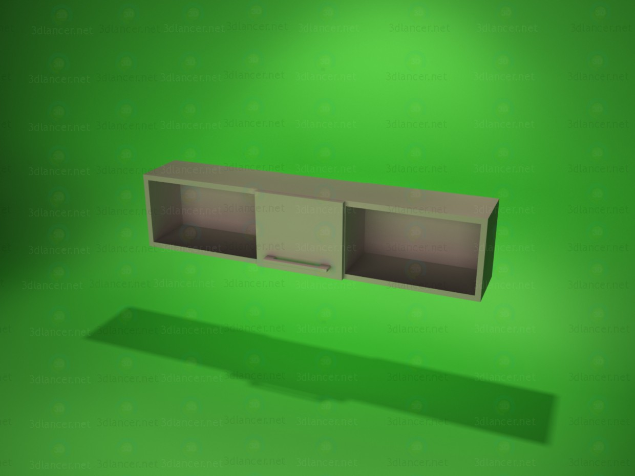modelo 3D Estante de la pared 3 - escuchar