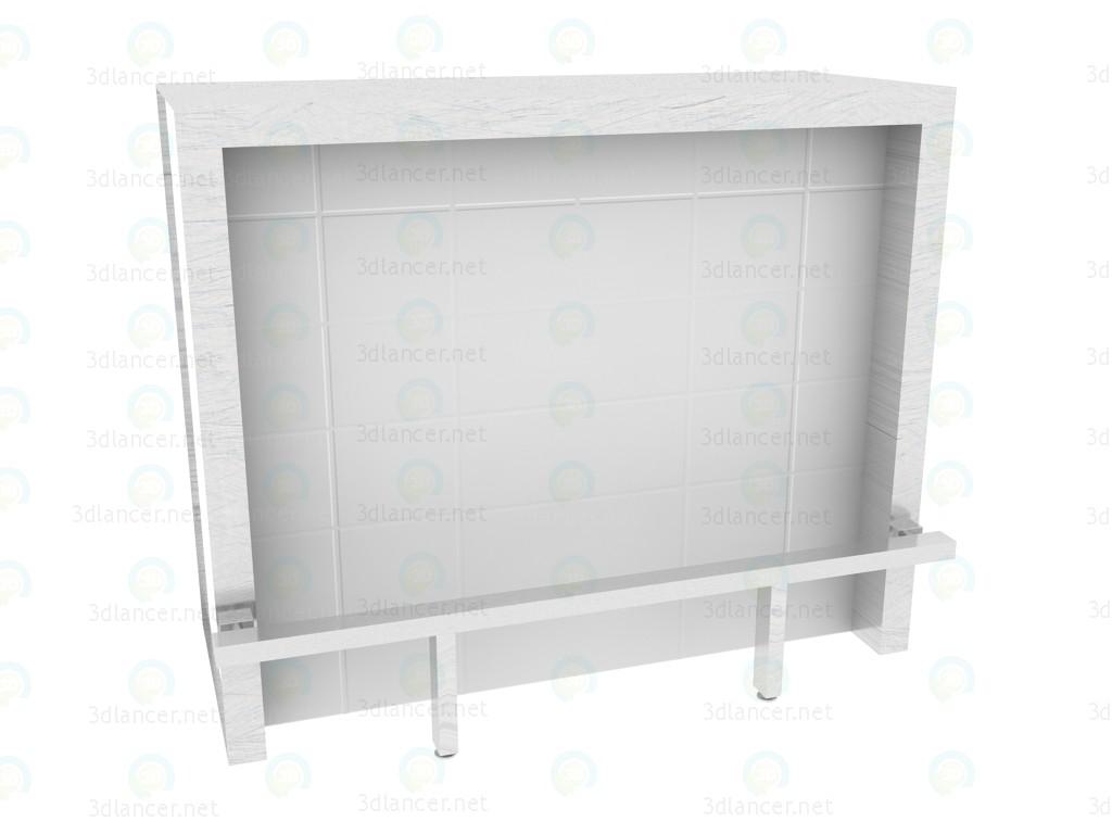 modelo 3D Bar clase cubitos de hielo con el reposapiés de la barra de - escuchar