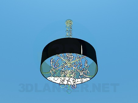 3d model Chandelier with rings - preview