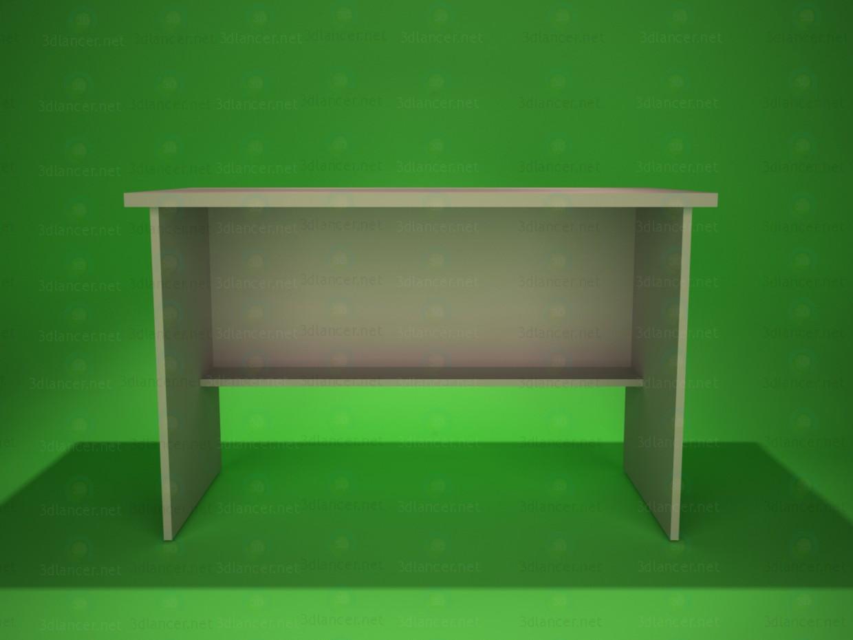 3d модель стіл письмовий 1 – превью