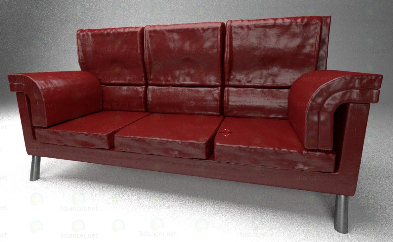 Sofa de cuero pagado modelo 3d por escuchar Владимир Закаможный
