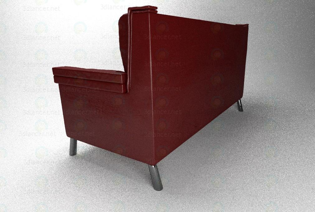 3d Кожаный диван модель купить - ракурс