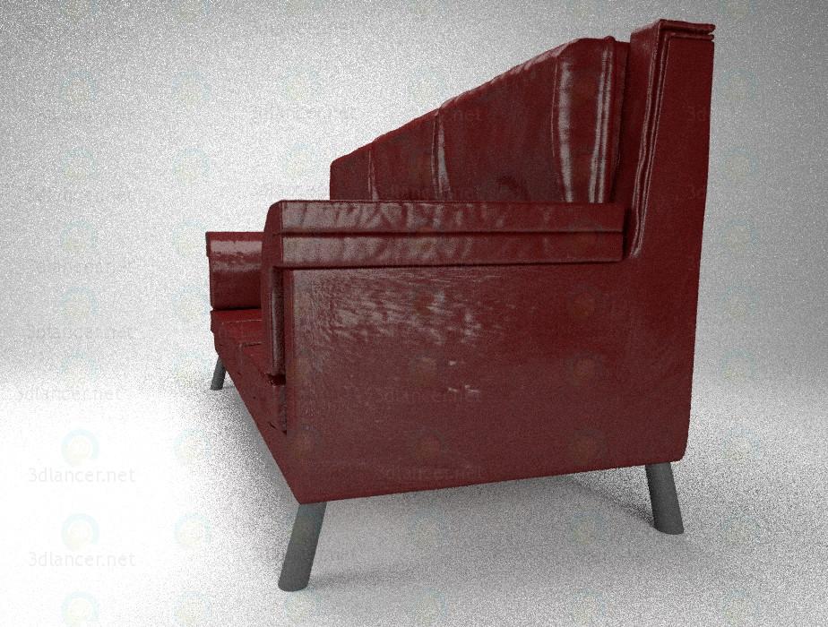 3d Шкіряний диван модель купити - зображення