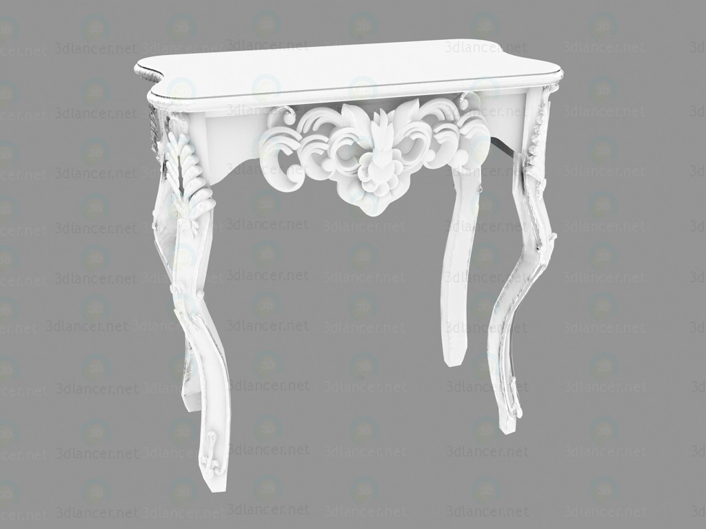 modelo 3D Ornamento blanco brillante pequeño escritorio pared - escuchar