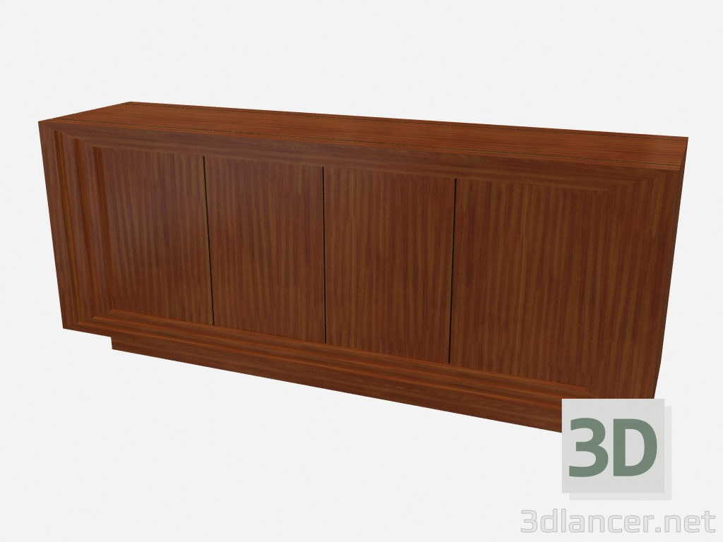 3d modeling Horizontal wood chest Art Deco Ernani model free download