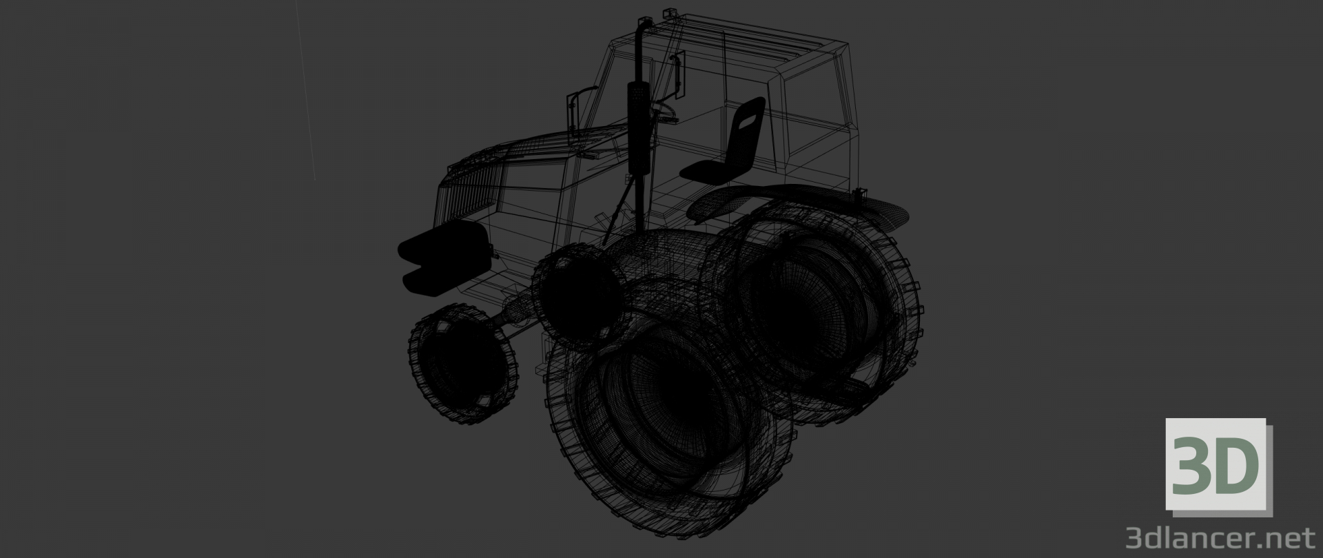3d model Tractor - preview
