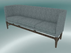 Triple sofa Mayor (AJ5, H 82cm, 62x200cm, Smoked oiled oak, Hallingdal - 130)