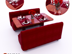 Cafe stol servirovka