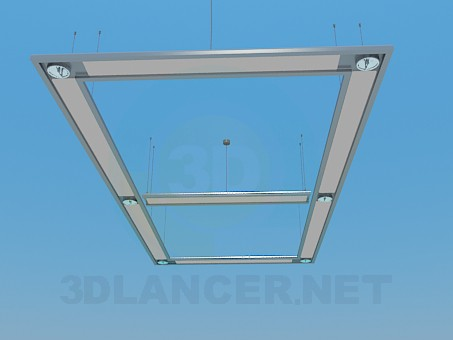 3d modeling Hanging lamp for 6 bulbs model free download