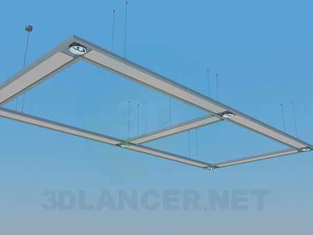 3d model Hanging lamp for 6 bulbs - preview