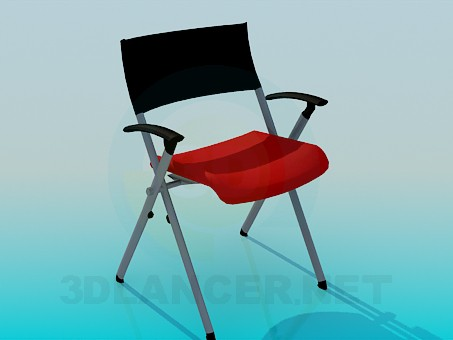 3d моделирование Раскладной стул модель скачать бесплатно