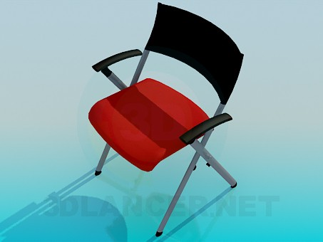 modelo 3D Silla plegable - escuchar