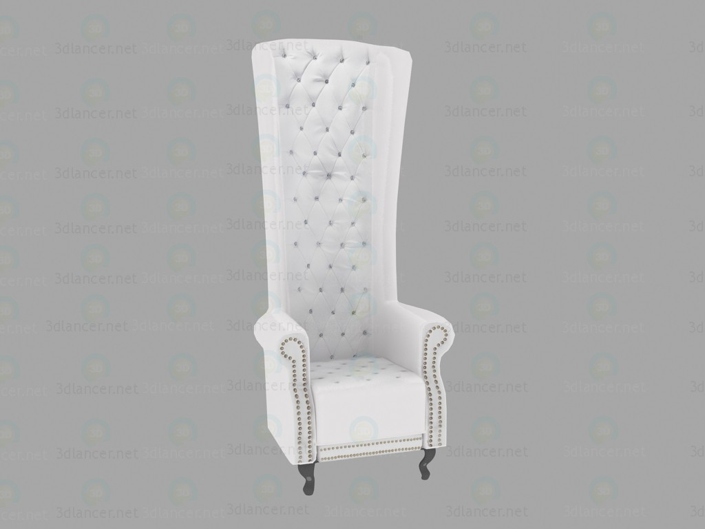 3d model Chair Queen White - preview
