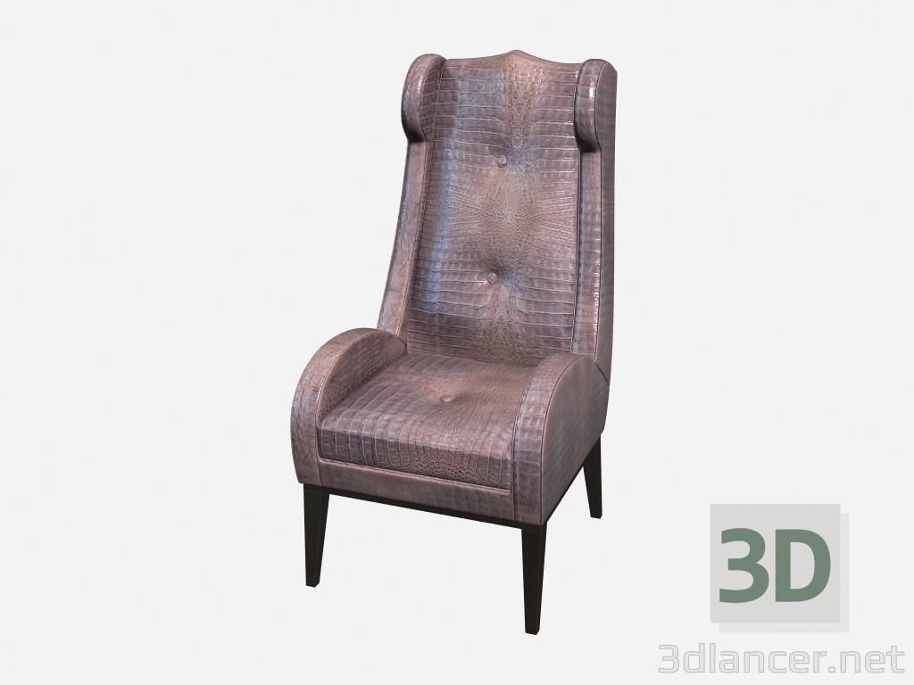 Modelo 3d Evans da cadeira de pele de crocodilo, em estilo art deco - preview