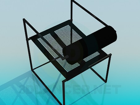 3d modeling Metal chair model free download