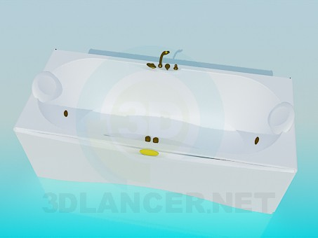 3d modeling Jacuzzi with copper mixer model free download