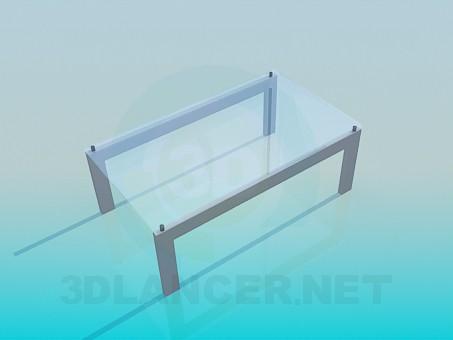 3d модель Скляний журнальний стіл – превью