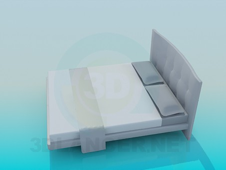 3d model Low double bed - preview