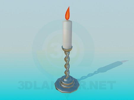 3d modeling Candle in a candleholder model free download
