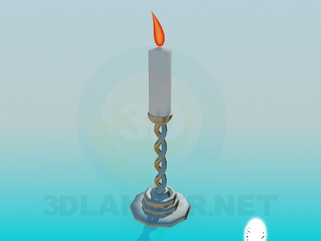 3d model Candle in a candleholder - preview