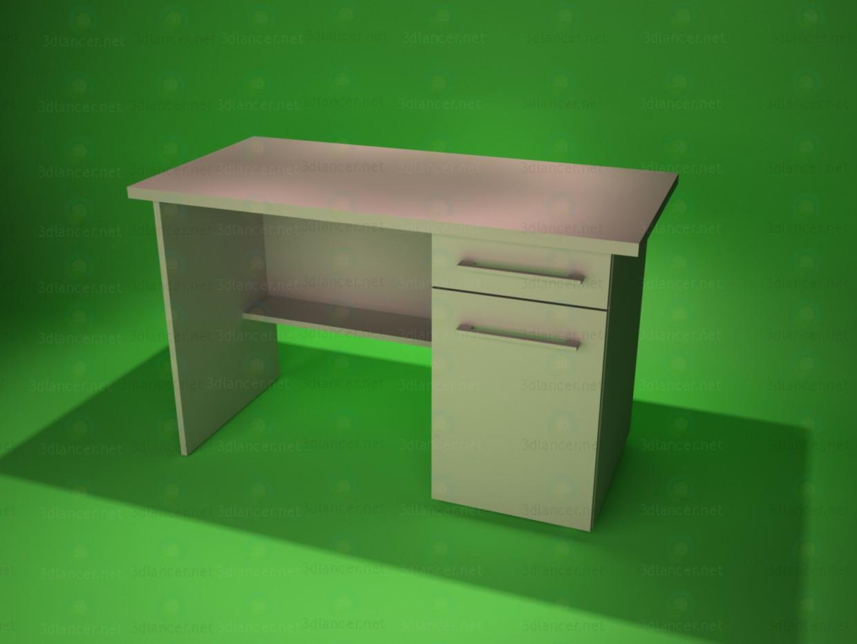 3d модель стіл письмовий 3 – превью