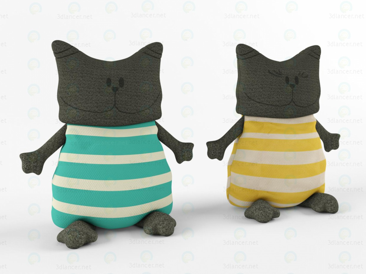 3d modeling Toy cats model free download
