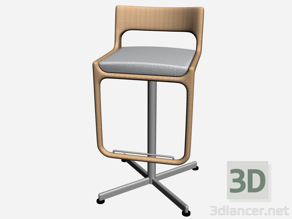 3d model Bar Chair Bar Stool Swivel 8814 8818 - preview