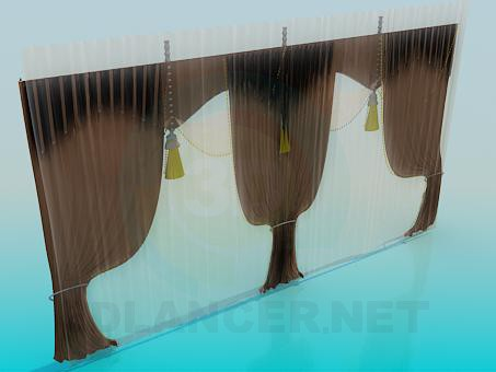 3d model Curtains - preview