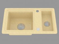 fregadero de cocina del país (ZQU 7513)