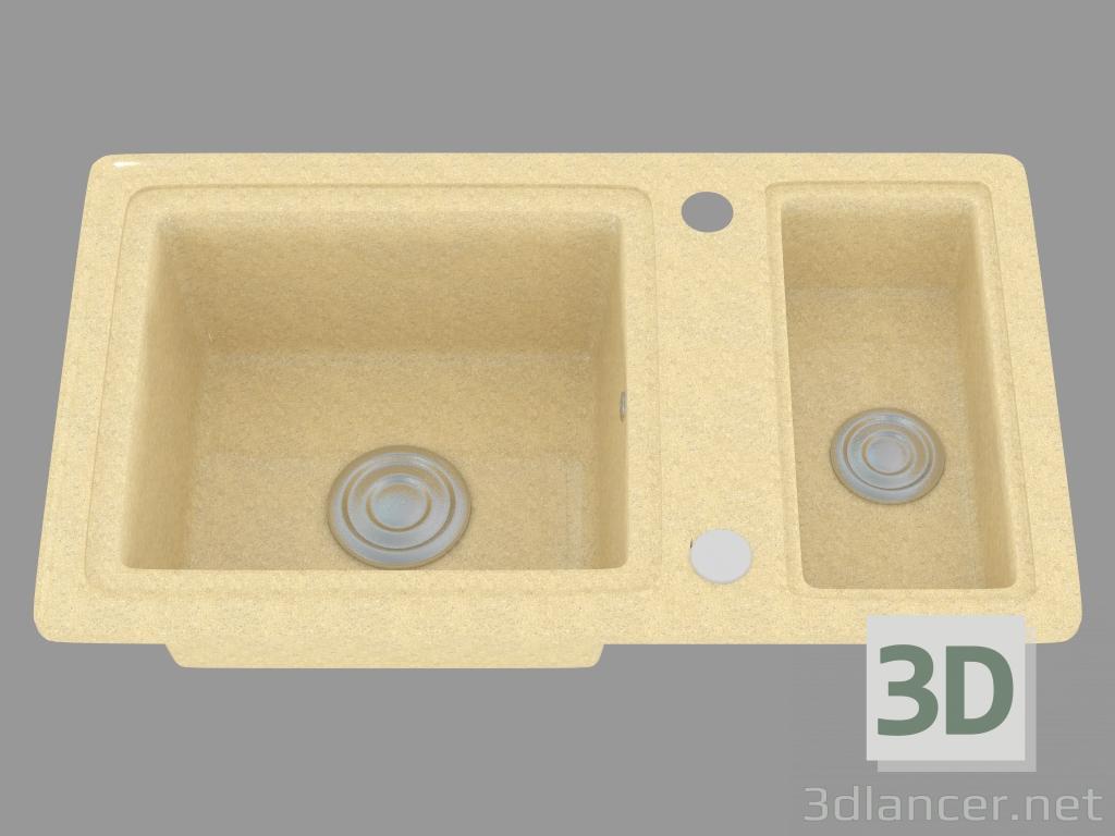 Modelo 3d fregadero de cocina del país (ZQU 7513) del fabricante ...