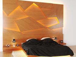Krovats 3D-Panel